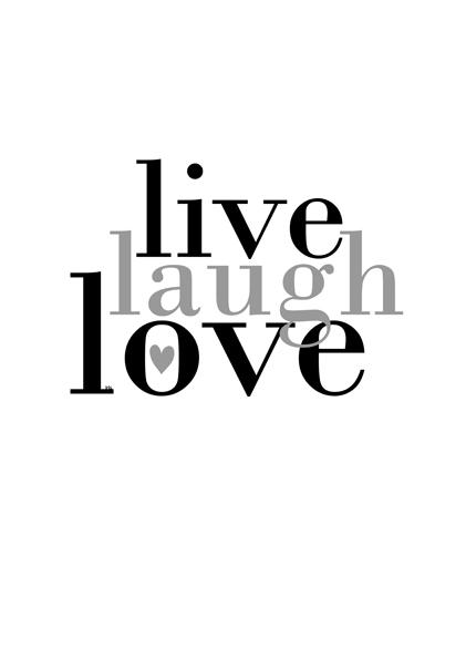 live laugh love vit bakgrund